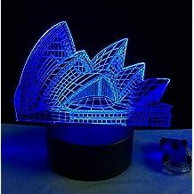 Romantische Sydney Opera House Nacht Licht USB Touch 7 Farbe Ändern Lampe 3D LED Schreibtisch Cafe Bar Restaurant Tisch Mall beleuchtung G