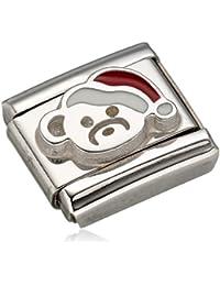Nomination Damen-Charm Composable Bär mit Mütze Edelstahl Emaille - 330204/13