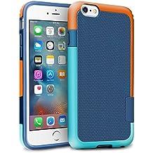 "iPhone 6s Plus / 6 Plus Funda - [Ultra Hybrid] HanLuckyStars Funda Carcasa Case Parachoque TPU Matte Shell Exact Bumper Tope Shock Protección Gota Anti-Arañazos , Choque Absorción Borrar Espalda para Apple iPhone 6 Plus/6s Plus 5.5"" (Azul/Naranja)"