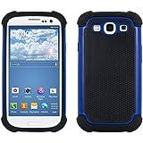 kwmobile Hybrid Outdoor Hülle für Samsung Galaxy S3 / S3 Neo - Dual TPU Silikon Hard Case Handy Hard Cover in Blau Schwarz