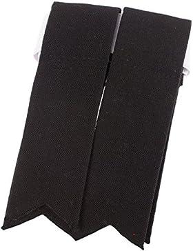 Scottish Adults Wool Kilt Flashes In Black
