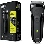 Braun Series 3 300s Electric Shaver for Men/Rechargeable Electric Razor, Black