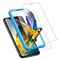 UGREEN 2 Pack iPhone 11 / XR Screen Protector for iPhone 11 iPhone XR Screen Protective 6.1 inch Tempered HD Clear Glass with 3D Touch, 9H Hardness, Shockproof, Anti-Scratch, Easy Installation Tool