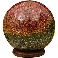 Reikiera Multi Oragane Stein Kugel Ball mit Ring Stand Aura Balancing Reiki Heilung preisvergleich bei billige-tabletten.eu