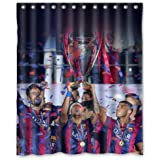 "LOVELIFE Barcelona Fc Champoions Sports Win Custom Shower Curtain 66""X 72"""
