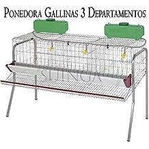 Bateria GALLINAS PONEDORAS 3 departamentos. Capacidad 15 gallinas. Medidas 155 x 70 x 95