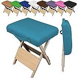 Vivezen ® taburete plegable de madera - 9 colores - Norma CE