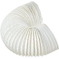 daniplus Abluftschlauch PVC Flexibel Ø 100/102 mm, 5 m z.B. für Klimaanlagen, Wäschetrockner, Abzugshaube