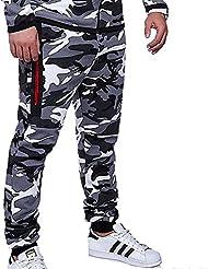 Yying Pantalones Hombre Chándal Camuflaje Pantalones de Deporte Pantalones Jogging Slim Fit Pantalones Casuales Cómodos Modernos
