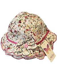 Pour les jeunes enfants de chapeau de soleil–Imprimé Floral avec ruban