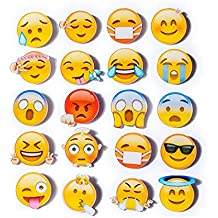 DSstyles 20 pièces différent émoticônes pins EMOJ Badges Boutons Ronds 35mm