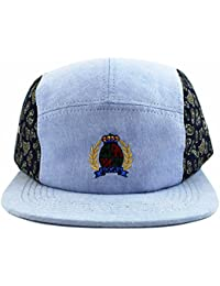 Agora Chambray Paisley 5 Panel Casquette