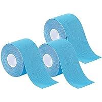 newgen medicals Tapeband: Kinesiologie-Tape aus Baumwollgewebe, 3er-Set, blau (Baumwollgewebe-Tape für Hals, Knie) preisvergleich bei billige-tabletten.eu