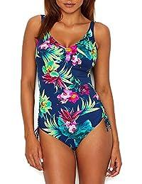 5a579451aeedd Fantasie Womens Amalfi Underwire V-Neck Swimsuit with Adjustable Leg, 38DD