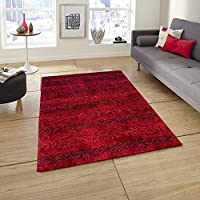 Story at Home AC1405 Carpet Accent Collection Anti Skid, Polyester, Red, 91 x 152cm