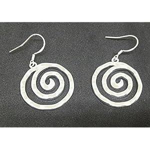 Selia runder Spiralen Ohrring Glück Ohrstecker 925 Silber Kreis handgemacht, Modeschmuck Schmuck, minimalistisch, Circle, Geschenk172