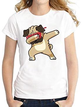 Jiayiqi Camiseta Estampada con Estampado De Verano De Manga Corta para Mujeres
