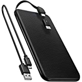 Spigen Essential F706C Power bank 5000mAh [Built in Micro Cable] [USB Type C Gender Included] Ultra Slim and Light Power Bank Portable Charger for Samsung, Pixel, Huawei, Sony, iPhone, iPad and more