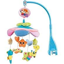 NextX B201 del bebé y de la muchacha ropa de cama cuna musical móvil con el colgante giratorio de colores suaves muñecos de peluche, Animal Amigos, caja de música eléctrica de 20 melodías juguete educativo Navidad