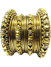 Shree Mauli Creation Antique Alloy Antique Bangles Set Of 16 For Women SMCB54