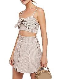 JOTHIN 2018 Damen Neue Sexy Schlinge Bandeau Beachwear Original Gestreift  Süße Freizeitkleid Stretch Bodycon Sweatkleider a 0d2c2bb3d0