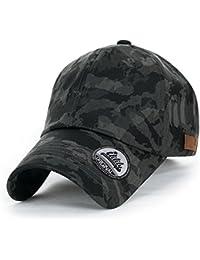 ililily Tarnkleidung (Camouflage) leicht Matt künstliches Leder klassischer Stil Kettverschnuss Schlaufe Baseball Cap
