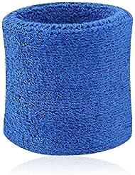 8cm*7.5cm Bracelet Bandeau poignet éponge de sport bleu foncé