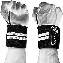 """Polsiere–Elite Body Squad Pro supporto polsi + free palestra cinghie, borsa per il trasporto e piano """"massa muscolare–completamente regolabile sollevamento avvolge lungo 45,7cm–perfetto per bodybuilding, powerlifting, MMA + di fitness."""