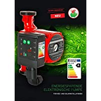 Bomba de circulación de alta eficiencia y alta calidad para calefacción, con indicadores led automáticos -Datos: RS 25-60180electrónico, consumo de energía 5-45 - Clase de eficiencia energética A - W-80 % - 230V - Ahorro de energía - Novedad - Diamond