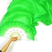 Woopower Veil - Abanico de Seda para Danza, Disfraz de bambú Largo de Seda para Mujer