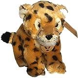 Gepard Plüschtier ca. 20 cm Plüschfigur Stofftier Raubtier sitzend