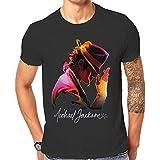 Michael Jackson Sombrero Classic–Camiseta de manga corta