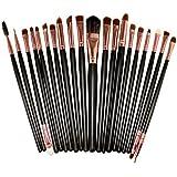 TOOGOO(R) 20PCS kit de pinceaux de maquillage pour les yeux brosse pour yeux or