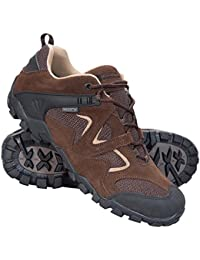 Mountain Warehouse Curlews Mens Waterproof Walking Shoes - Quick Drying Hiking Boots, Suede & Mesh Outer Material Outdoor Shoes, Rubber Sole - Ideal For Everyday Use