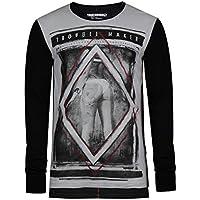 trueprodigy uomo T-Shirt Maglietta Manica Lunga Troublemaker