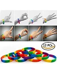 ... Mariage Bande 10 Bague Unisexe Silicone · EUR 13,00 · VAMEI Bracelets  Arc-en-Ciel Gay Pride 6 Couleurs LGBT Party Bracelets en Caoutchouc 482e964ea85