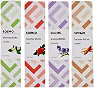 Amazon Brand - Solimo Incense Sticks, Multi fragrance - 70 sticks/pack (Pack of 4)
