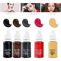 5 Colores Maquillaje Permanente Pigmentos Microblading Pintura De Tinta Del Tatuaje Para Elineador De Ojos Ceja Delineador Tatuaje Permanente Tinta Del Lápiz Labial