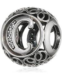"Pandora Damen-Charm Vintage ""C"" 925 Zirkonia weiß-791847CZ"