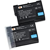 DSTE 2-Pack Rechange Batterie pour Nikon EN-EL15 1 V1 D600 D610 D750 D800 D800E D810A D7000 D7100 D7200
