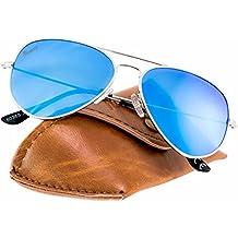 Rivacci Gafas de Sol de Moda Polarizadas estilo Wayfarer / Aviador / Clubmaster - Outlet Sunglasses - Marca Retro / Vintage Baratas para Mujer y Hombre - Deportivas - Funda y Toallita Limpiadora GRATIS