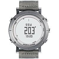NORTH EDGE Norte Borde Digital Relojes para Hombre Reloj de Deporte Militar Moda Hombres Pantalla LED Resistente al Agua Reloj de Pulsera, 0.18 pounds, Color Plata