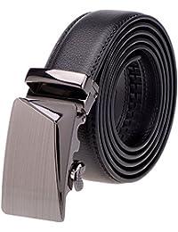 SAMGU New Boucle automatique en cuir de vache ceintures des hommes Business Belt Couleur Noir