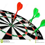 Skera Double-sided Flocking Dart Board (15 inches) 6 Darts