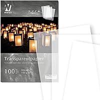 WINTEX® 100 Blatt Premium Transparentpapier DIN A4, 100 g/qm, Super Qualität - weißes Bastelpapier - bedruckbar