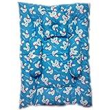 Little Monster Baby Bedding Set/Baby Mattress/ Baby Gadda/ Baby Pillow/ Kids Matress (Sky Blue)