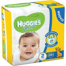 Huggies - Unistar - Pañales - Talla 2 (3 - 6 kg) - 24 pañales