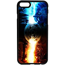 Naruto and Sasuke Character Rubber Bumper Hard Back Phone Case Cover for iPhone & Samsung's (Samsung Galaxy S6)
