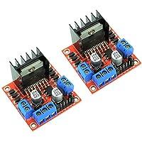 2pcs L298N motor drive Junta Módulo controlador dual H-Bridge controlador para Arduino, Robots, Smart Cars de Optimus eléctrico