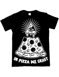 The Dead Generation In Pizza We Crust T Shirt - Occult Illuminati Apparel by Luna Cult